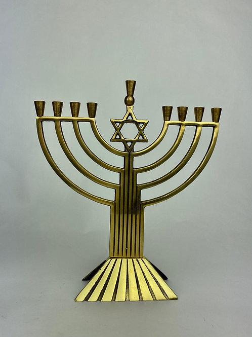 Brass Menorah Israel Vintage 1980