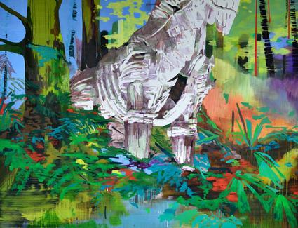 Trojanisches Pferd im Wald