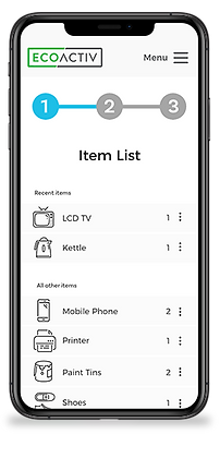 Ecoactiv iPhone Mockup - Items list - Sm