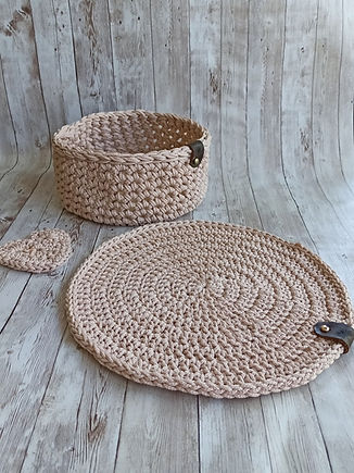 Crochet table mat_Placemats, Crochet pla