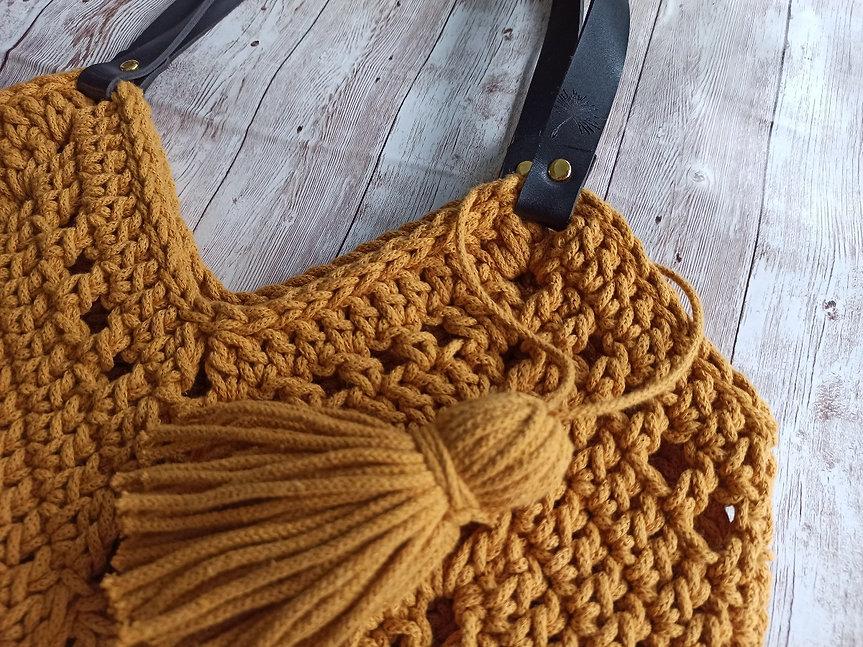 Crochet Tote Bag_Polyester Rope bag_Crochet purse_Polyester Rope Purse_Market bag_Beach ba