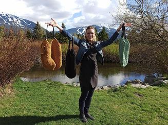 Crochet Tote Bag_Polyester Rope bag_Croc