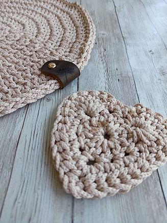 Crochet table mat_Placemats, Crochet pla