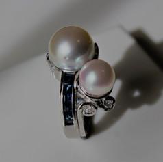 Pearl,Sapphire&Diamond