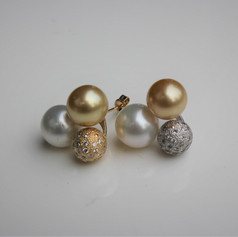 South Sea Pearls & Diamond Balls