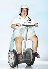 overweight riding a segway