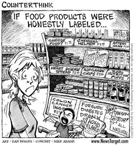 food label comic