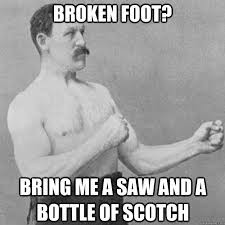 painful foot joke