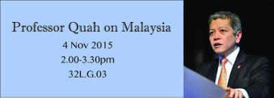 Professor Danny Quah on Malaysia