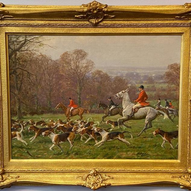 English hunting scene circa 1930