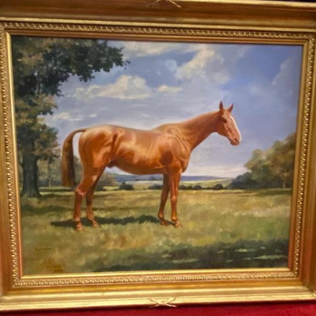 very attractive race horse painting