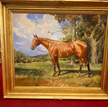 attractive race horse painting