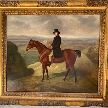 The Duke of Norfolk on his favourite hunter