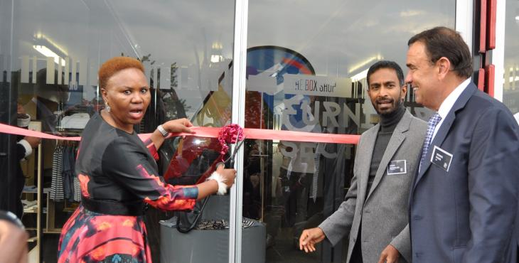 Minister Zulu Opens the Box Shop