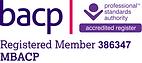 BACP Registered Member Logo (Registered Member Number 386347)