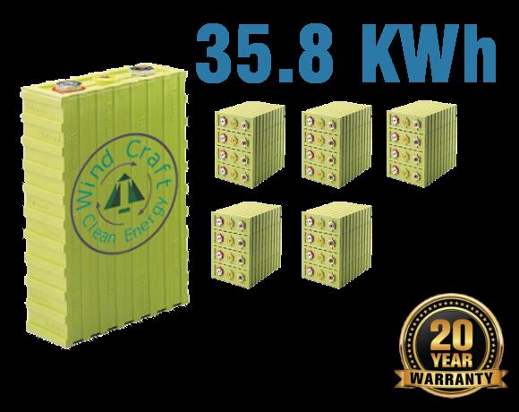 Lithium Iron Battery 35.8 KWh