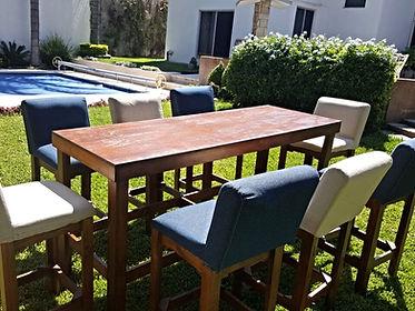 renta salas lounge en monterrey, renta mesas tipo bar en monterrey, renta periqueras en monterrey