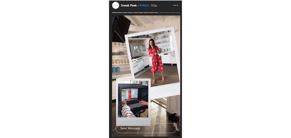 Laura Ashley Instagram Story