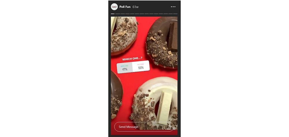 Krispy Kreme Instagram Story