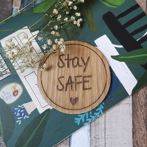 Stay Safe Disc Oak Wooden Photography Props 3 sizes