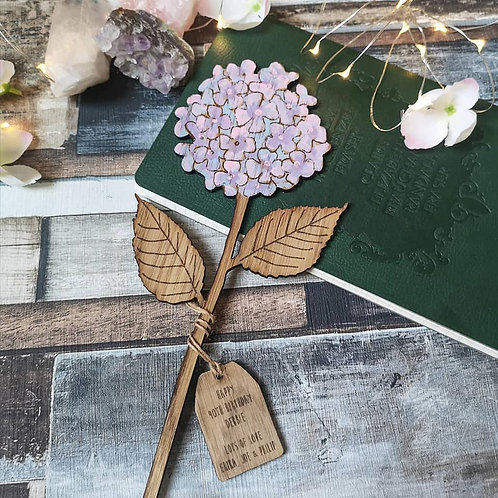Wooden Hydrangea, Birthday Gift for Mum Friend