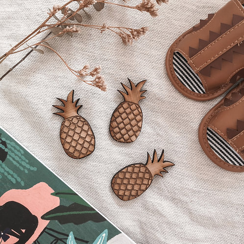 Oak Pineapple Photography Props Flatlay, Wooden Decoration