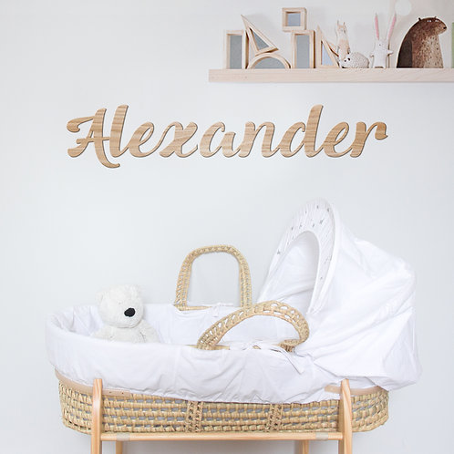 Large Wooden Name Wall Sign, Wooden Baby Name Sign for Nursery