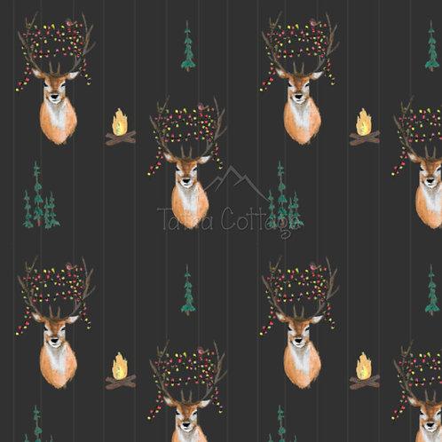 Fully Exclusive Seamless Pattern Christmas Deer - Brown