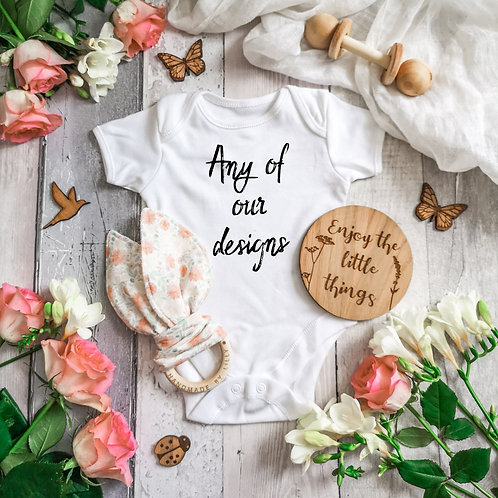 Short Sleeve Bodysuit -  Any of Our Designs, 0-24 months