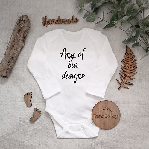 Long Sleeve Bodysuit -  Any of Our Designs, 0-24 months