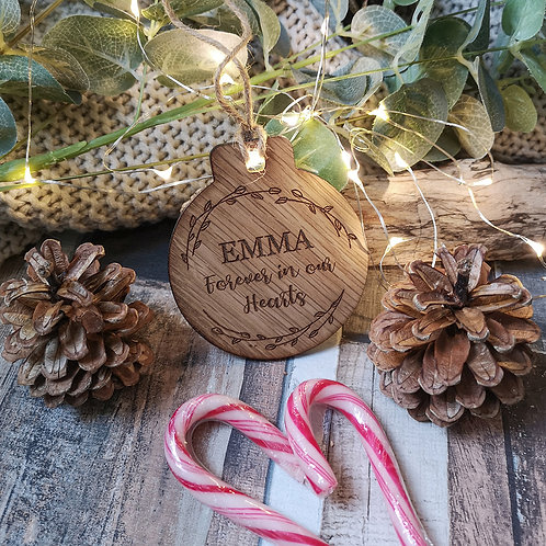 Custom Christmas Bauble, ANY TEXT, Pick a size Price