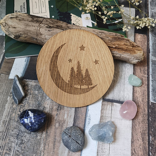 Moon Disc Oak Wooden Photography Props 2 sizes