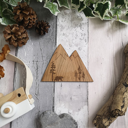 Oak Large Mountain Wooden Photography Props