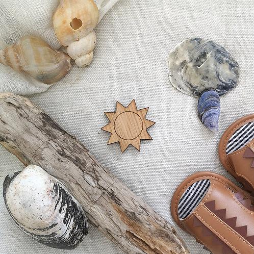 Oak Sun Photography Props Flatlay, Wooden Decoration