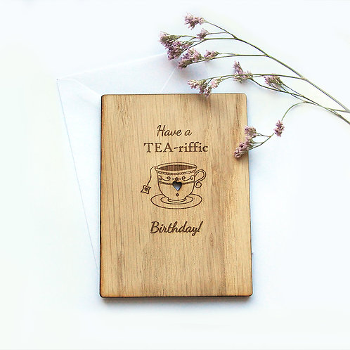 Personalised Birthday Card, Have a Tea-riffic Birthday