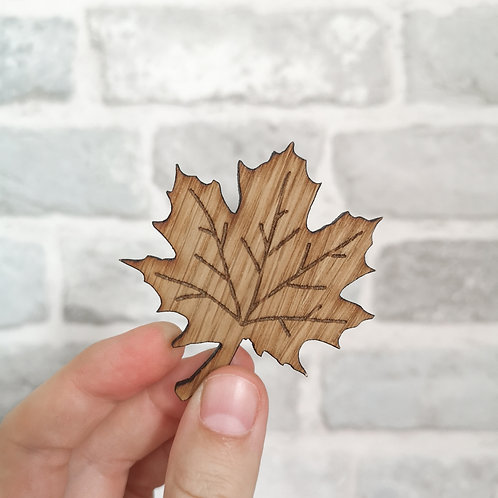 Smaller Maple Leaf Photography Props Flatlay, Wooden Decoration