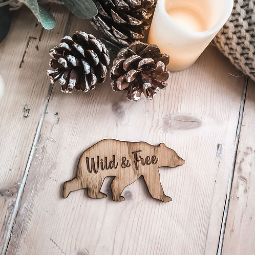 Oak Bear Wild & Free Photography Props, Instagram Flatlays