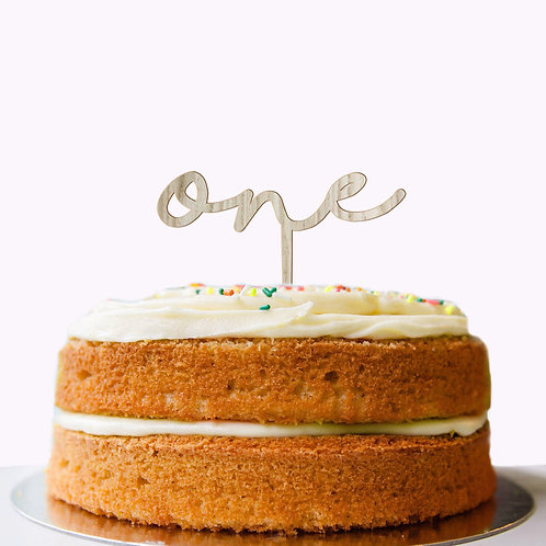 Personalised One Two Three or Name Cake Topper