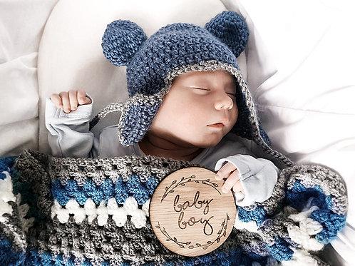 Baby Boy / Girl Milestone Wooden Disc Card