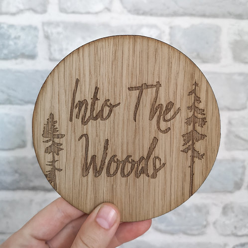 Into the Woods Disc LARGER Oak Wooden Photography Props