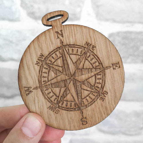 Oak Compass Wooden Photography Prop