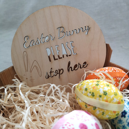 Easter Bunny Please Stop Here, Wooden Photography Props