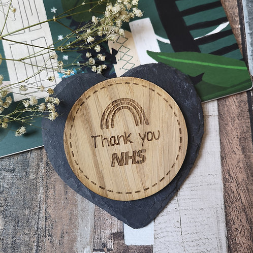 Thank you NHS Disc Oak Wooden Photography Props 3 sizes