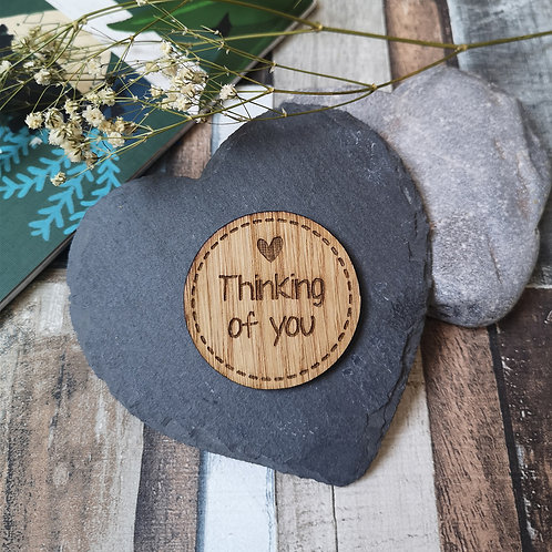 Thinking of you Coin/Magnet 5 cm Disc Father's Day, Mother's Day, Birthday