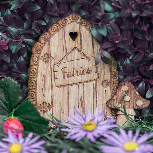 Fairy Door Oak Engraved Fairy Door Children's Sign