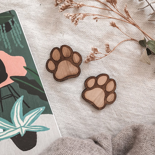 Oak Dog Paws Photography Props Flatlay, Wooden Decoration