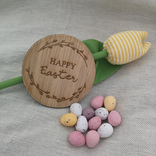 Happy Easter Disc 2 sizes, Wooden Photography Props