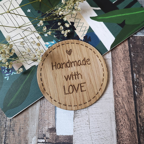 Handmade with Love Disc Oak Wooden Photography Props 3 sizes