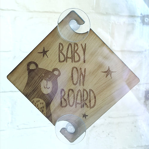 Bear Baby on Board Sign for Car