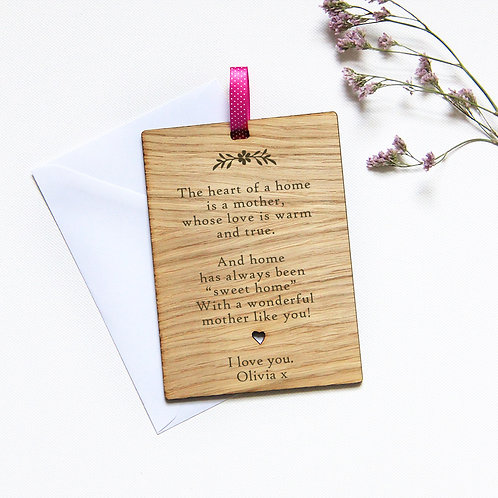 Personalised Mother's Day Card with Your Poem